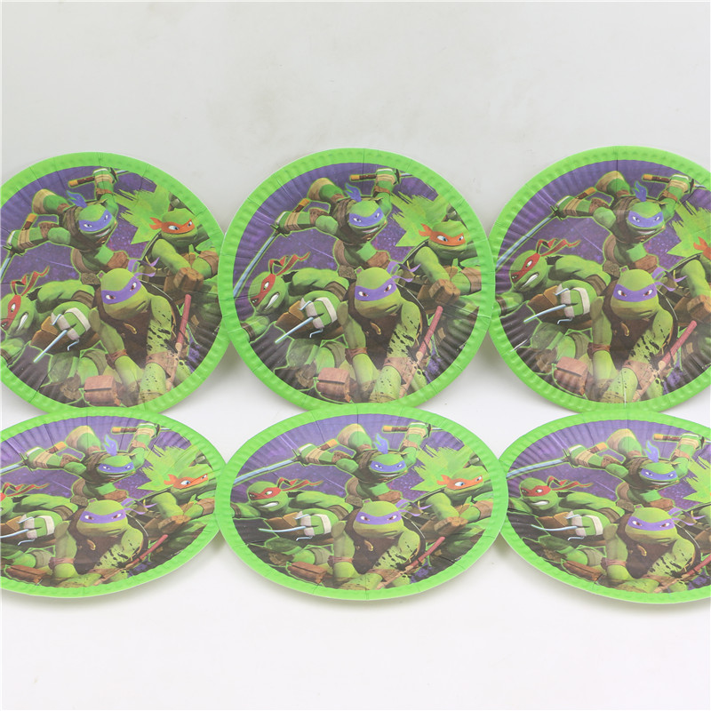 100pcs\lot Baby Shower Ninja Turtle Cartoon Dishes Happy Birthday Party  Supplies Kids Favors Paper Plates Decoration Tableware On Aliexpress.com |  Alibaba ...