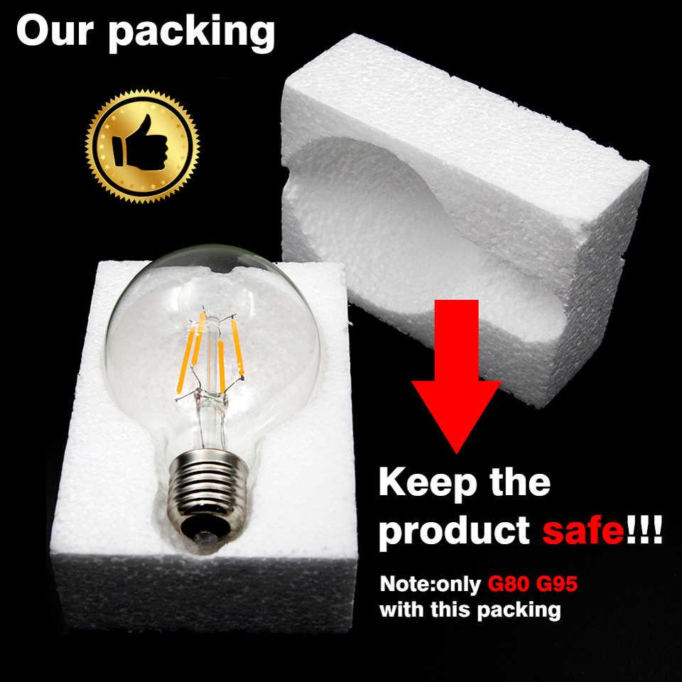 KARWEN lampe à LED bougie ampoule E14 E27 2W 4W 6W 8W AC 220V rétro antique verre Edison ampoule Vintage LED Filament lumière 360 degrés