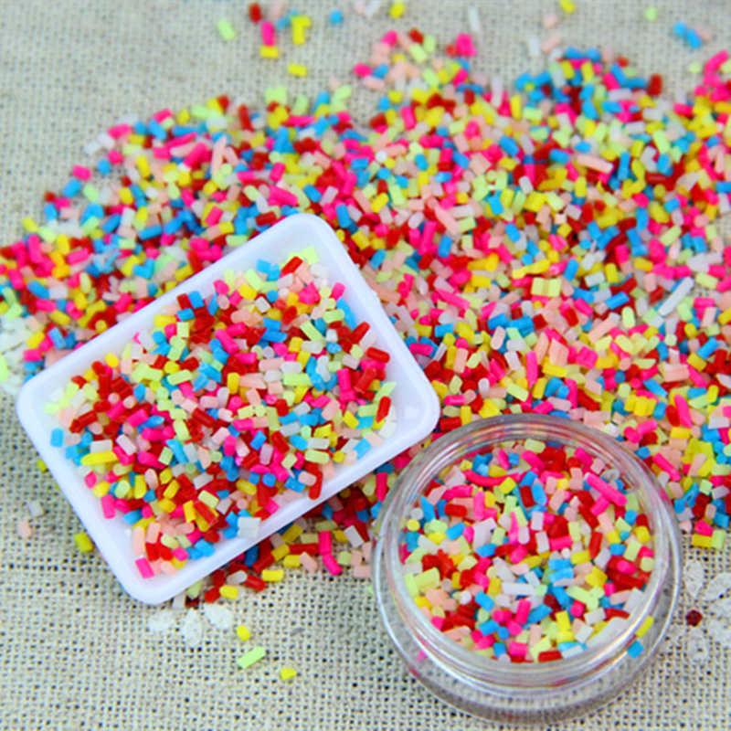 100 جرام لتقوم بها بنفسك بوليمر كلاي حلويات الحلوى وهمية السكر رش الزينة ل وهمية كعكة الحلوى محاكاة الغذاء دمية