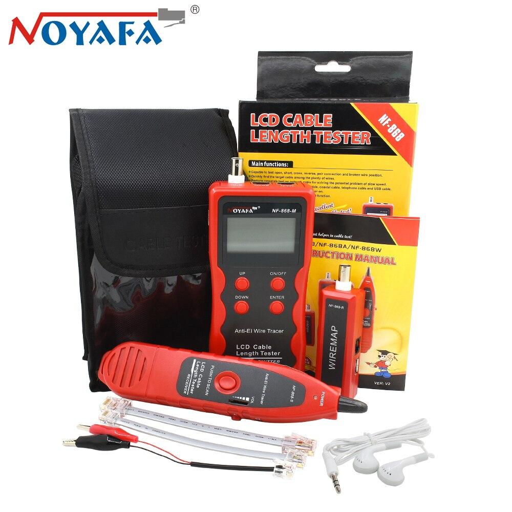 NOYAFA NF-868 RJ11 RJ45 LAN testeur de longueur de câble réseau diagnostiquer tonalité BNC USB ligne métallique téléphone fil Tracker outils de réseau