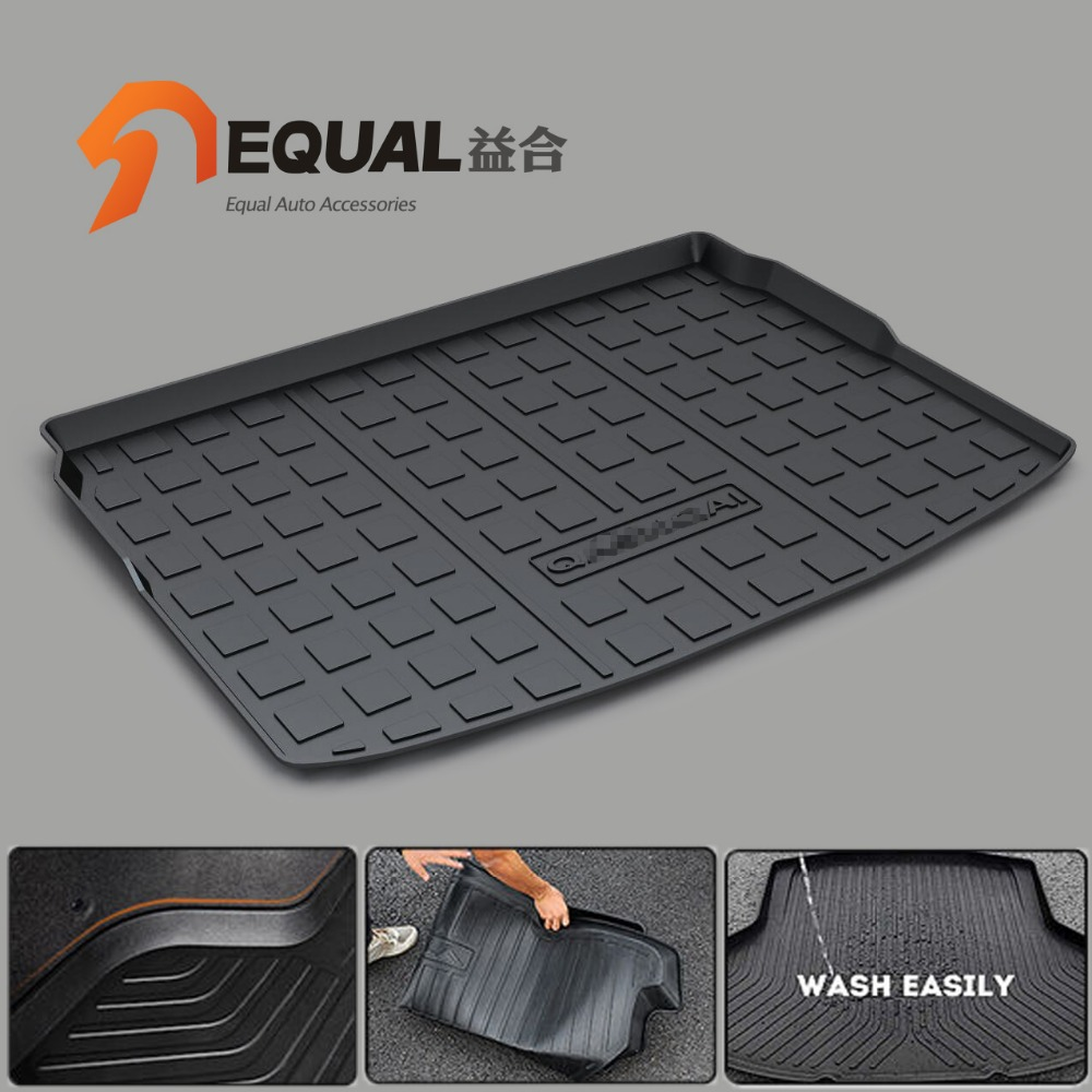 Floor mats qashqai - Fit For Nissan Qashqai Juke Teana Sunny Sylphy Livina Tiida Sedan X Trail March Murano Boot Liner Rear Trunk Cargo Tray Mats