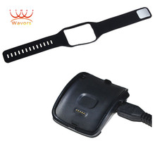 Wavors Charging Cradle Dock + Replace wristbands for Samsung Gear S Smart Watch SM-R750 Accessory