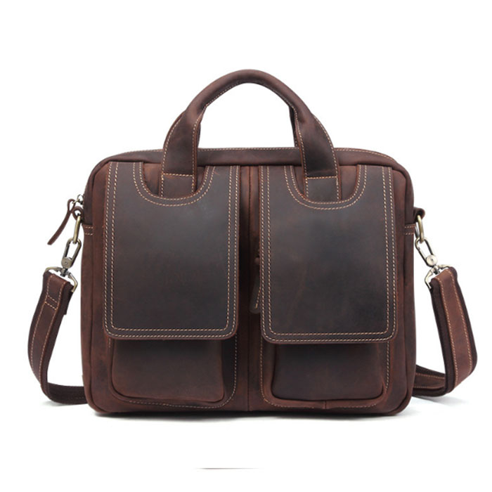 Men cow leather Business Handbag Messenger Bags Fashion Crossbody Shoulder Bags Casual briefcases Male travel bags brown/coffeeMen cow leather Business Handbag Messenger Bags Fashion Crossbody Shoulder Bags Casual briefcases Male travel bags brown/coffee