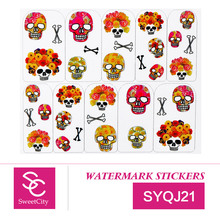 Sweet City Nail Art Gel Polish Water Transfer Stickers For Manicure Beauty Nail Tools Acrylic