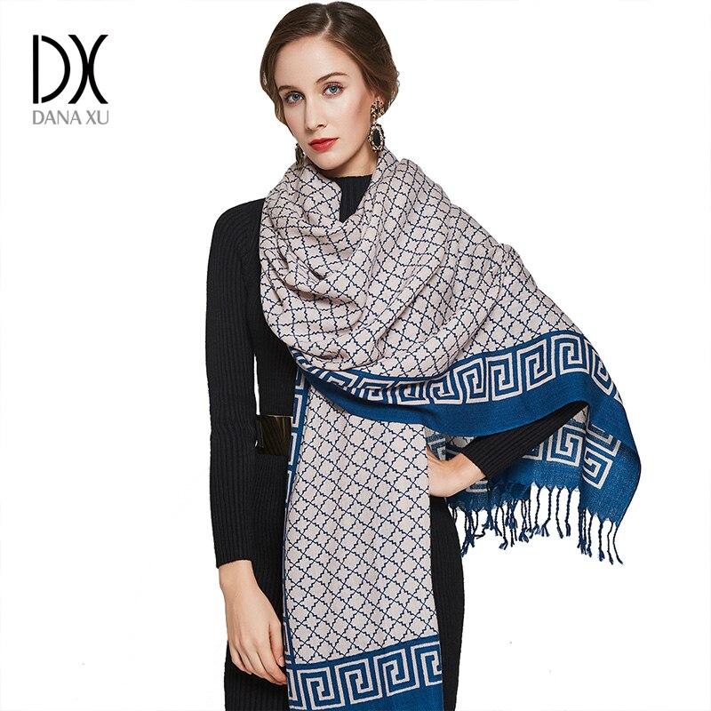 Fashion   Scarves   and Shawls Shawl Winter Women Luxury Brand   Scarf     Wrap   Wool Poncho Pashmina Cape Bandana Face Shield Muslim Hijab