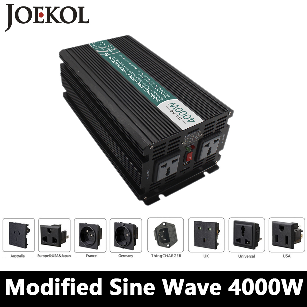 Grid Tie 4000W Modified Sine Wave Inverter,DC 12V/24V/48V To AC110V/220V,off Grid Solar Inverter,voltage Converter solar power on grid tie mini 300w inverter with mppt funciton dc 10 8 30v input to ac output no extra shipping fee