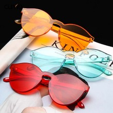 Ou Mo brand One Piece zonnebril dames Sunglasses Women/Men Transparent Plastic Style Sun Glasses Clear Men