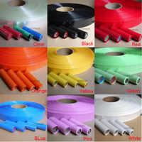 Tubo termorretráctil de PVC 2:1, ancho de 18650 MM/diámetro de 18500 MM, negro/rojo/amarillo/verde/azul/blanco/transparente, (envoltura de batería 29,5 18,5)