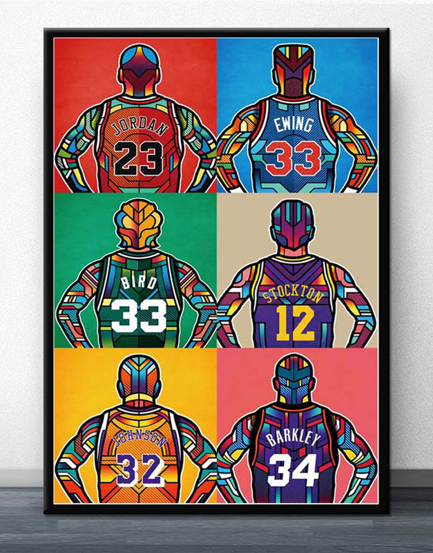 Lebron James Super basketball Star Silk Art Poster Print