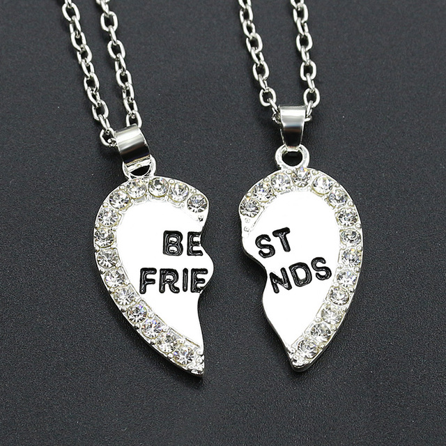 1 pair women men best friends pendants silver gold bff necklace best 1 pair women men best friends pendants silver gold bff necklace best friends forever bff two mozeypictures Choice Image