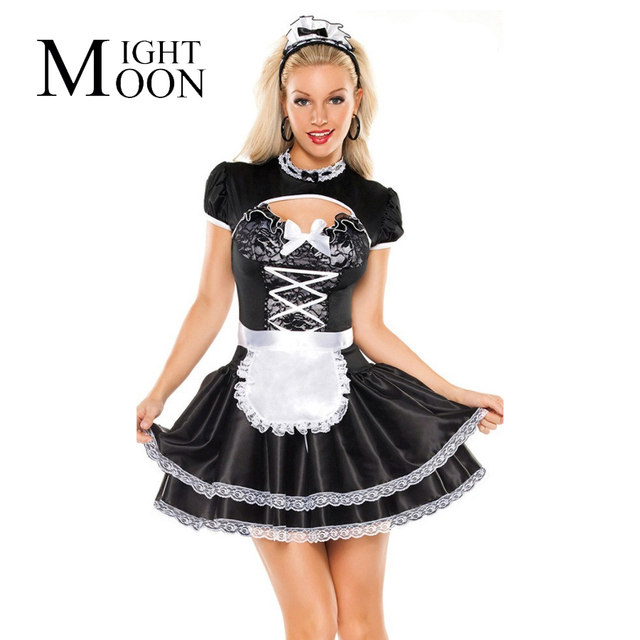 MOONIGHT French Maid Costume Halloween Costumes For Women Sexy Maid Servant Cosplay Costume Hearwear+Shawl+Dress+Apron  sc 1 st  Aliexpress & Online Shop MOONIGHT French Maid Costume Halloween Costumes For ...