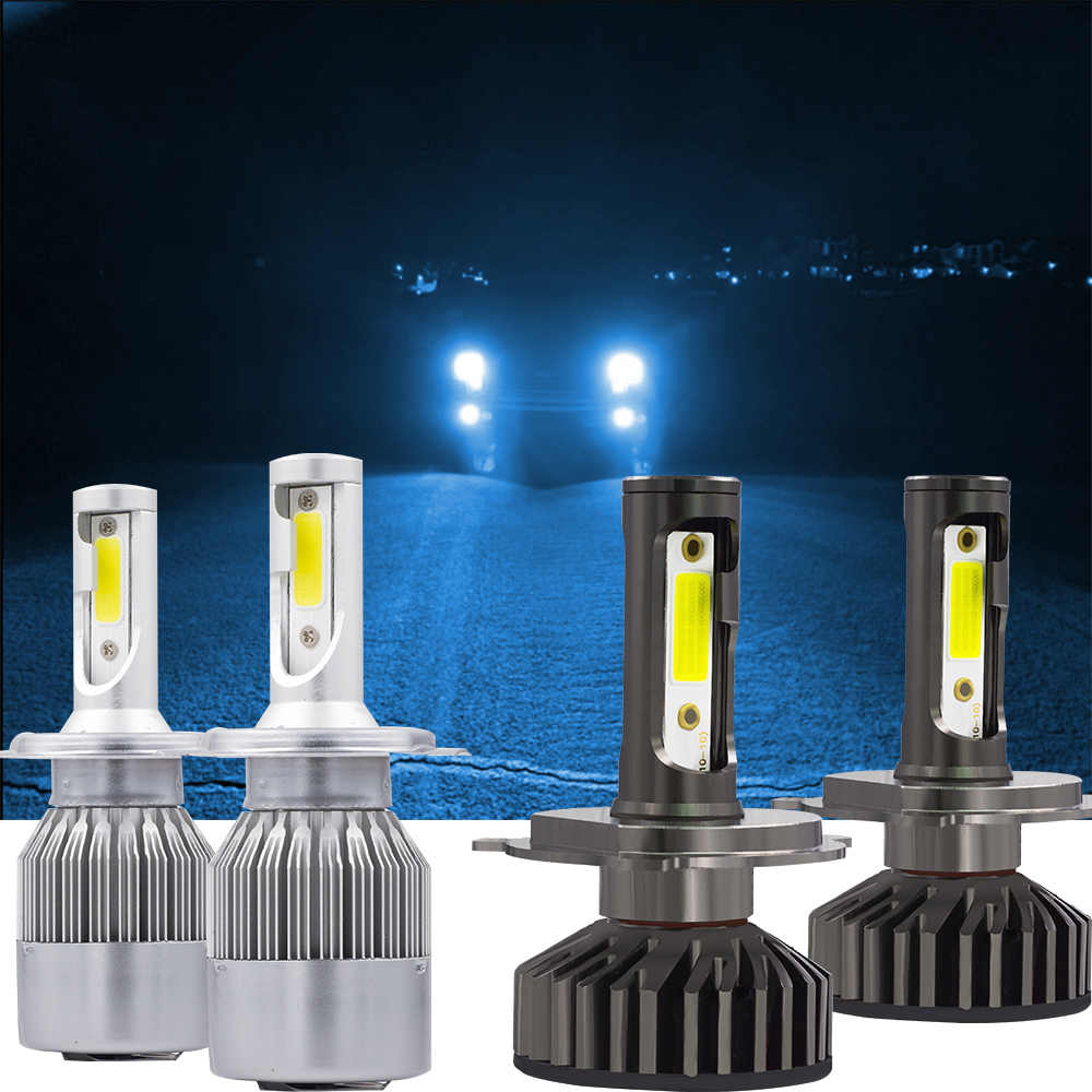 YHKOMS Mini Size 25000K Bule Color Canbus H4 H7 H11 H1 LED C6 F2 Car Headlight H8 H9 9005 HB3 9006 HB4 Auto Fog Lighting 12V