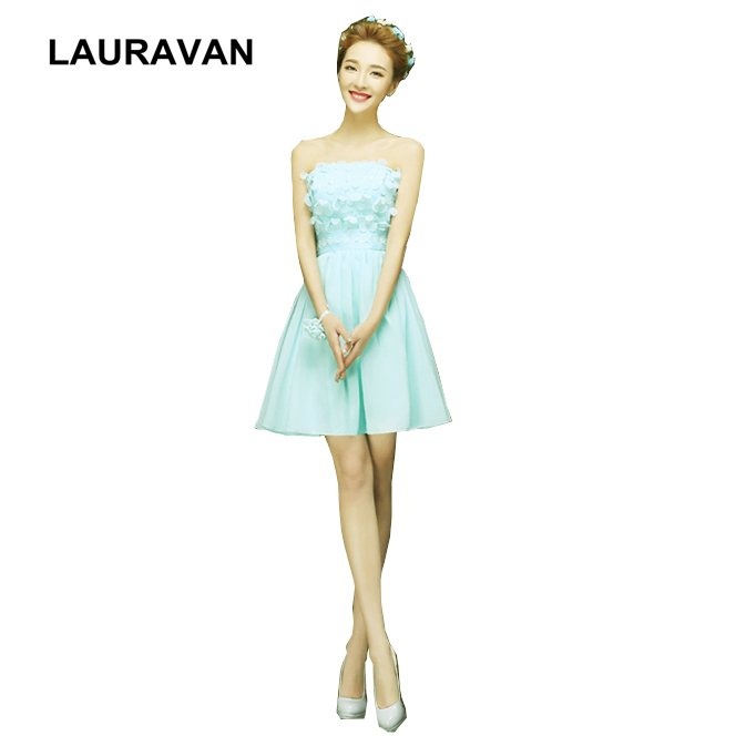 sweet 16 modest robe de soiree strapless light mint blue chiffon   cocktail     dress   party   dresses   2019 girls ball gowns for party