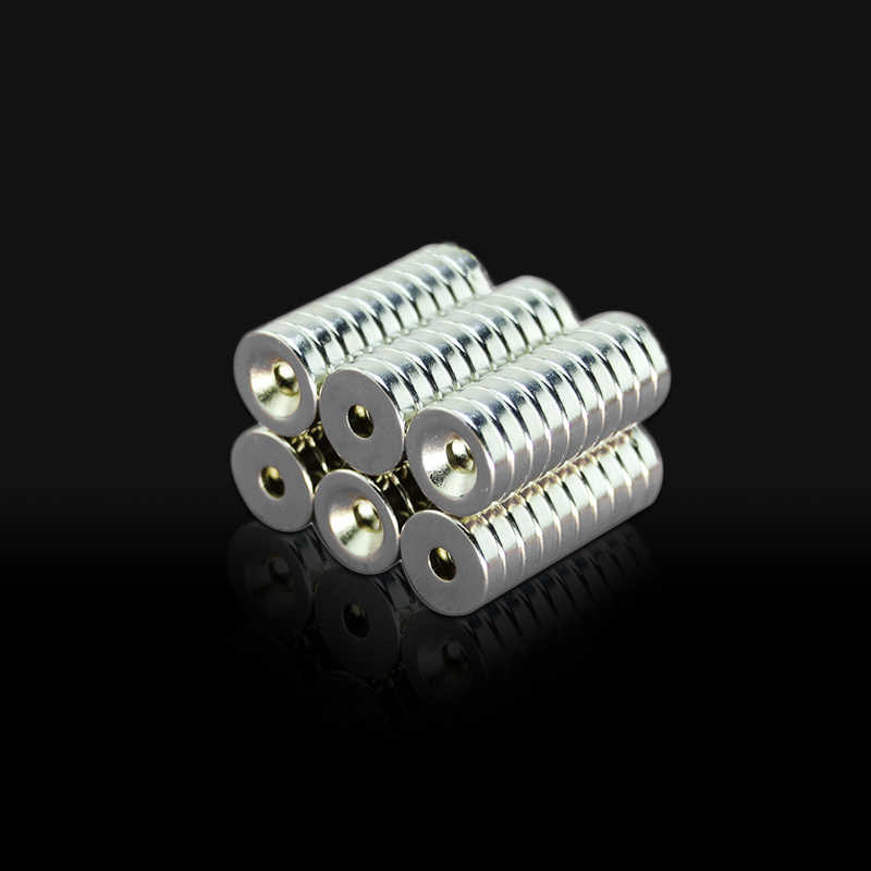 10 Buah 12 Mm X3mm-3 NdFeB Cincin Magnet Diameter 12X3 Mm Tebal M3 Lubang Lurus Neodymium Rare Earth Magnet Permanen 12*3-3 Mm