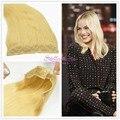 Stella Reina Productos Para el Cabello #613 Platinum Blonde Remy Brasileña Del Pelo Humano Blanqueados Secreto Flip En la Extensión De Halo Corona de Alambre