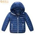 Niños de la capa muchachas del invierno chaquetas niños ultraligero abajo de la capa corta chicos parkas abrigos con capucha caliente outwear XQ001-2