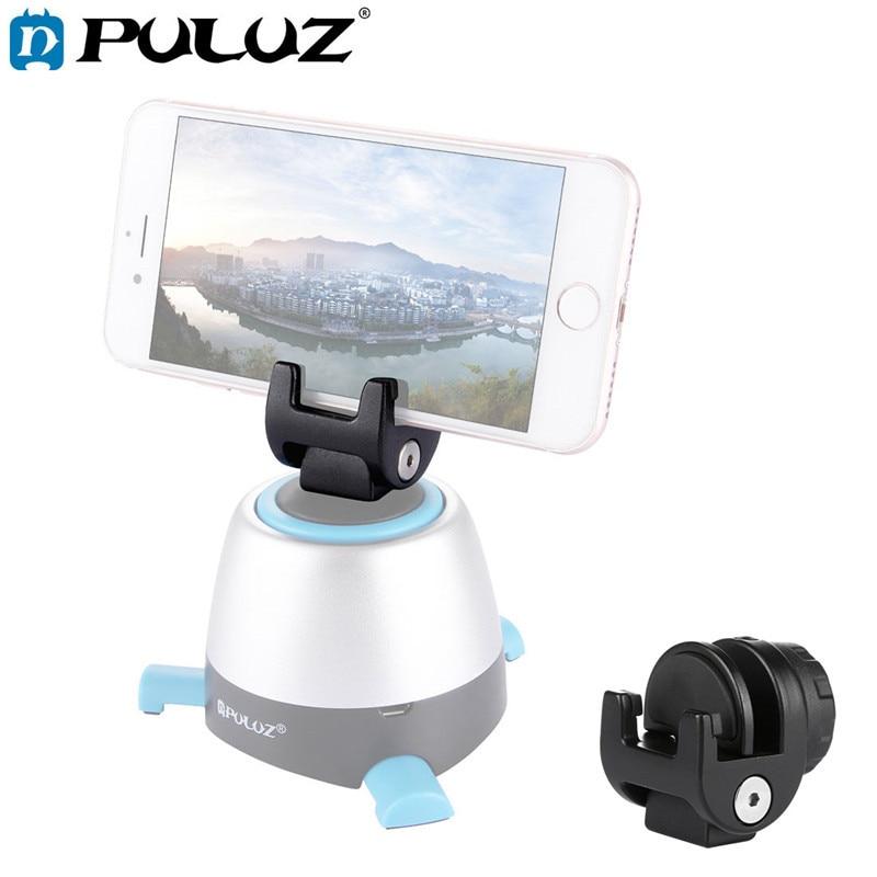 Металлический зажим для крепления телефона PULUZ с поворотом на 360 градусов, панорамная головка, только для смартфонов, держатель с отверстием 1/4 Srew