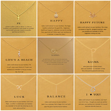 9 Styles Cross Smiley Face Thousand Paper Crane Pendant Necklace For Women Minimalist Chain Choker Necklaces Gift Card Jewelry stylish smiley face lace choker necklace