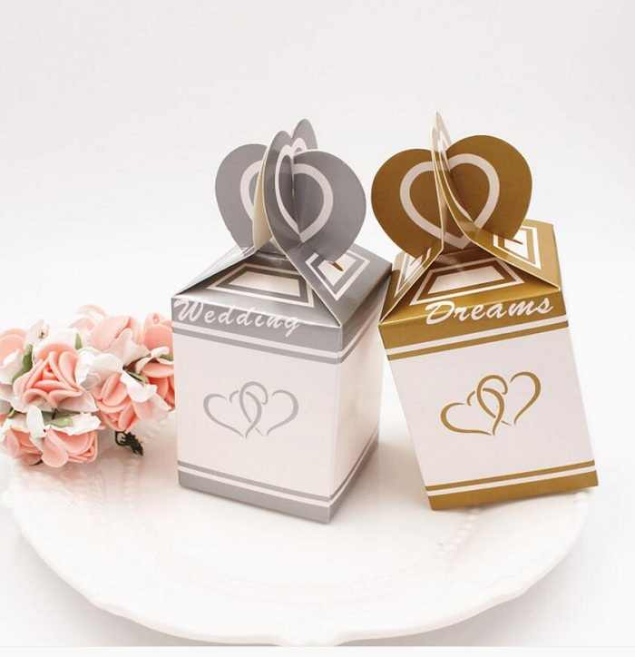 candy box bag chocolate paper gift package for Birthday Wedding Party favor Decor supplies DIY  fish tail heart design Wh