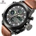 Top Marca de Luxo Dos Homens de Natação Digital LED de Quartzo Relógios Militar Relogio masculino Esportes Ao Ar Livre Relógio Com Pulseira De Couro
