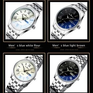 Image 2 - Montre bracelet pour hommes et femmes reste tactile, pour amoureux daffaires, montres de luxe, pied deau à Quartz, cadeaux de mariage