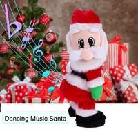Рождественский новый подарок танцевальная электрическая музыкальная игрушка Санта Клаус кукла Twerking пение Рождественское украшение для до...