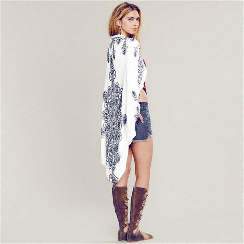 Women Blouse 2017 New Print Vintage Long Kimono Cardigan Batwing ...