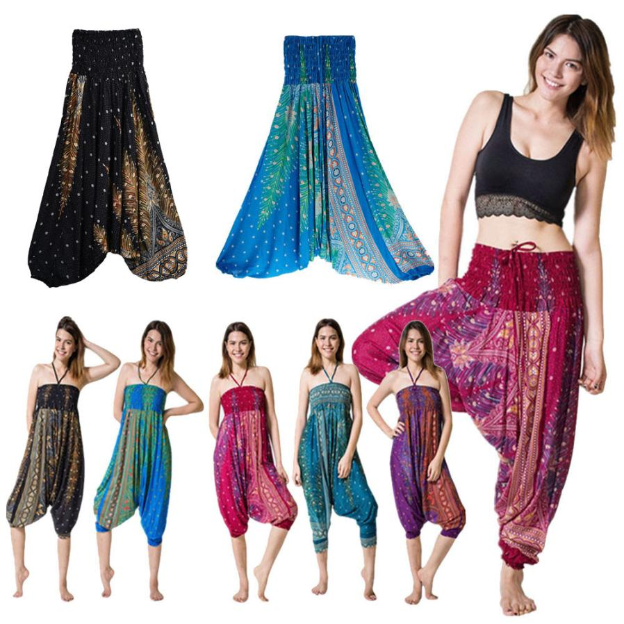 Harem Pants Plus Size Women NEW Fashion Loose брюки Trousers Baggy Boho Aladdin Jumpsuit Casual Summer Harem Pants Freeship