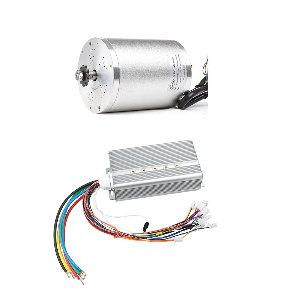 kunray bldc 72v 3000w brushless motor kit with 24 mosfet 50a controller for electric scooter e [ 1001 x 1001 Pixel ]