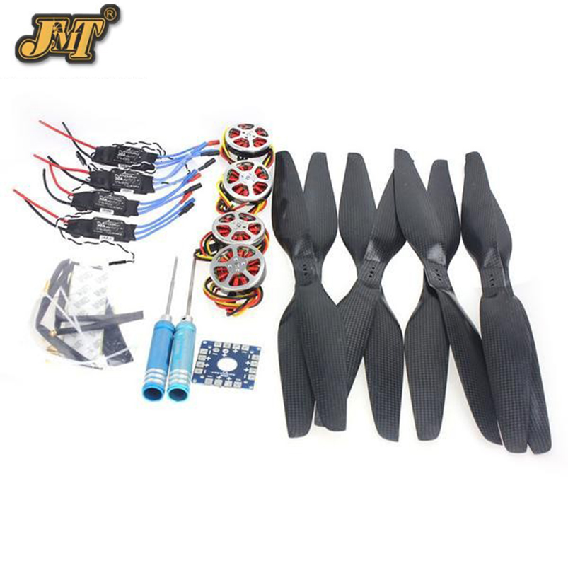 JMT 4-Axis Foldable Rack RC Quadcopter Kit +750KV Motor+15x5.5 Propeller+30A ESC+ KK Connection Board 4set lot universal rc quadcopter part kit 1045 propeller 1pair hp 30a brushless esc a2212 1000kv outrunner brushless motor