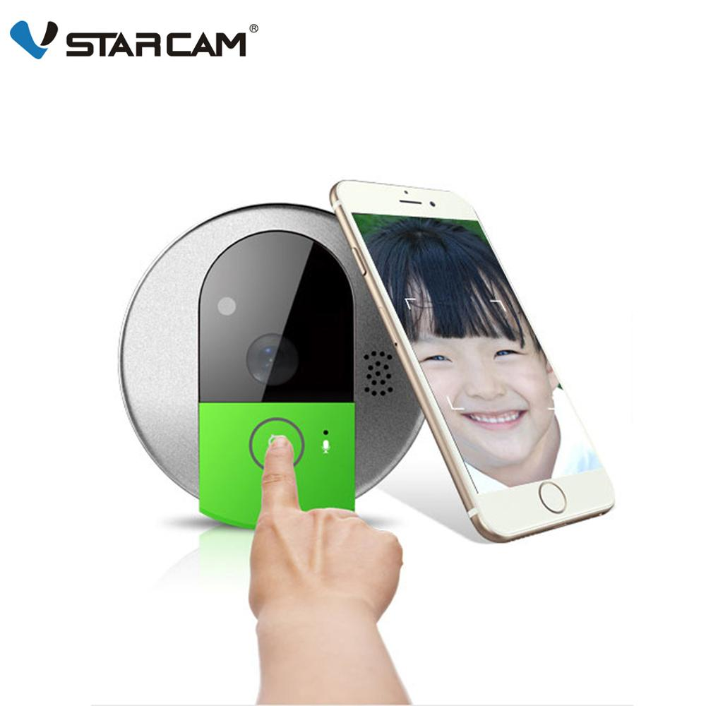 Vstarcam Wireless Door Bell HD 720P Two Way Audio Night Vision Wide Angle Video WiFi Security Doorbell Camera C95/C95-TZ