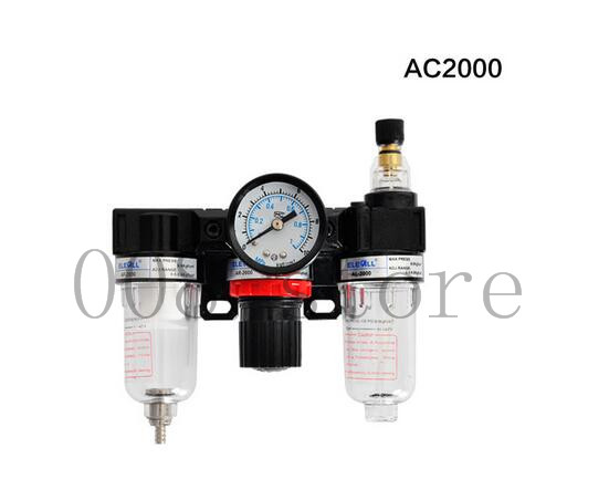 Free shipping Pneumatic Parts Air Source treatment unit pressure regulator Oil/water separation AC2000 air unit pneumatic source treatment g1 4 afc2000