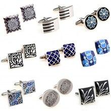 Горячая Распродажа 9 видов стилей черные синие эмалированные запонки 1 пара самое большое продвижение