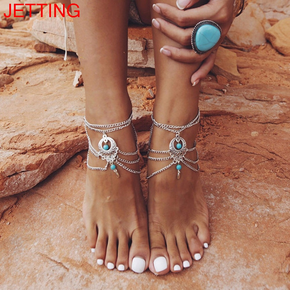 Women Shell Anklet Colorful Beach Handmade Ankle Foot Chain Bracelet Boho Beads Jewelry