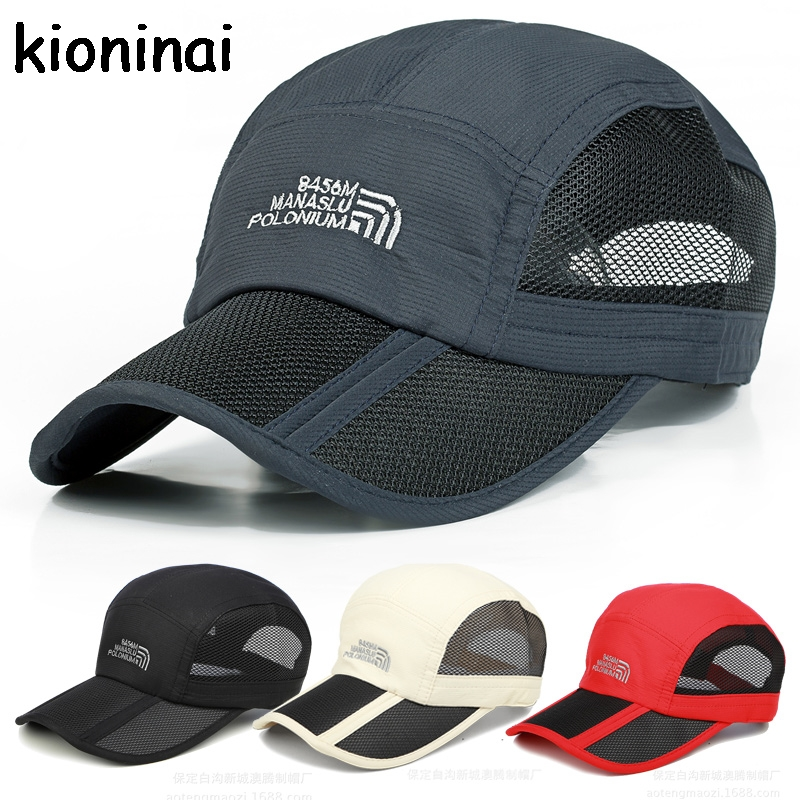 Foldable Baseball Cap Sport Quick-drying Outdoor Snapback Summer Hat 8 Colors Bone Gorras Casquette chemo skullies satin cap bandana wrap cancer hat cap chemo slip on bonnet 10 colors 10pcs lot free ship