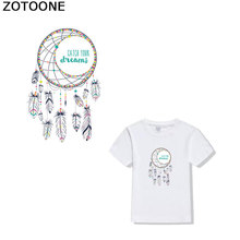ZOTOONE Color Dreamnet Clothing Sticker Girl T-shirt Printing Patch DIY iron on transfers for clothing Badges Heat Press D