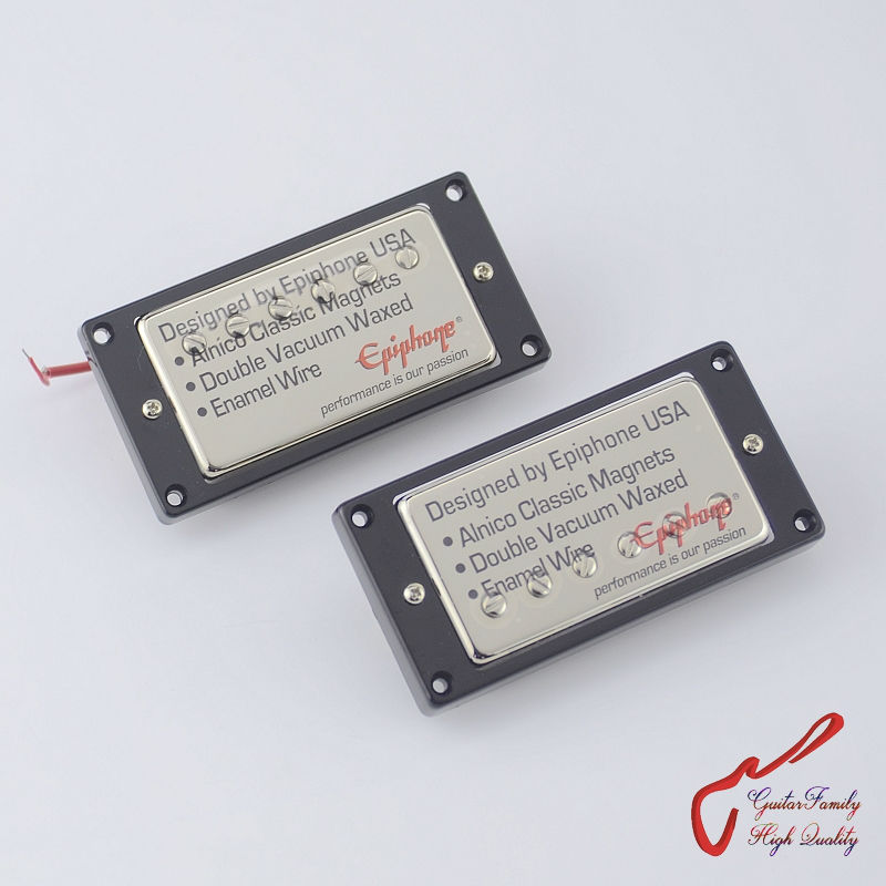 1 Set Original Genuine Epi SG400 Electric Guitar Alnico Bar Humbucker Pickup   Nickel Cover MADE IN KOREA 1 set guitarfamily alnico pickup for casino jazz guitar nickel cover made in korea