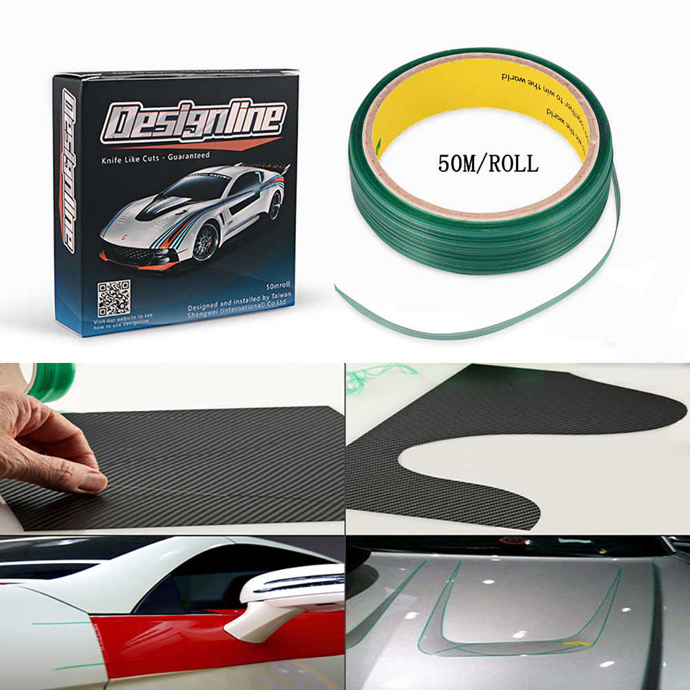 Ehdis 50M Vinyl Wrap Knifeless Tape Ontwerp Lijn Auto Sticker Decal Snijden Tape Carbon Folie Film Cut Tool Auto cutter Accessoires