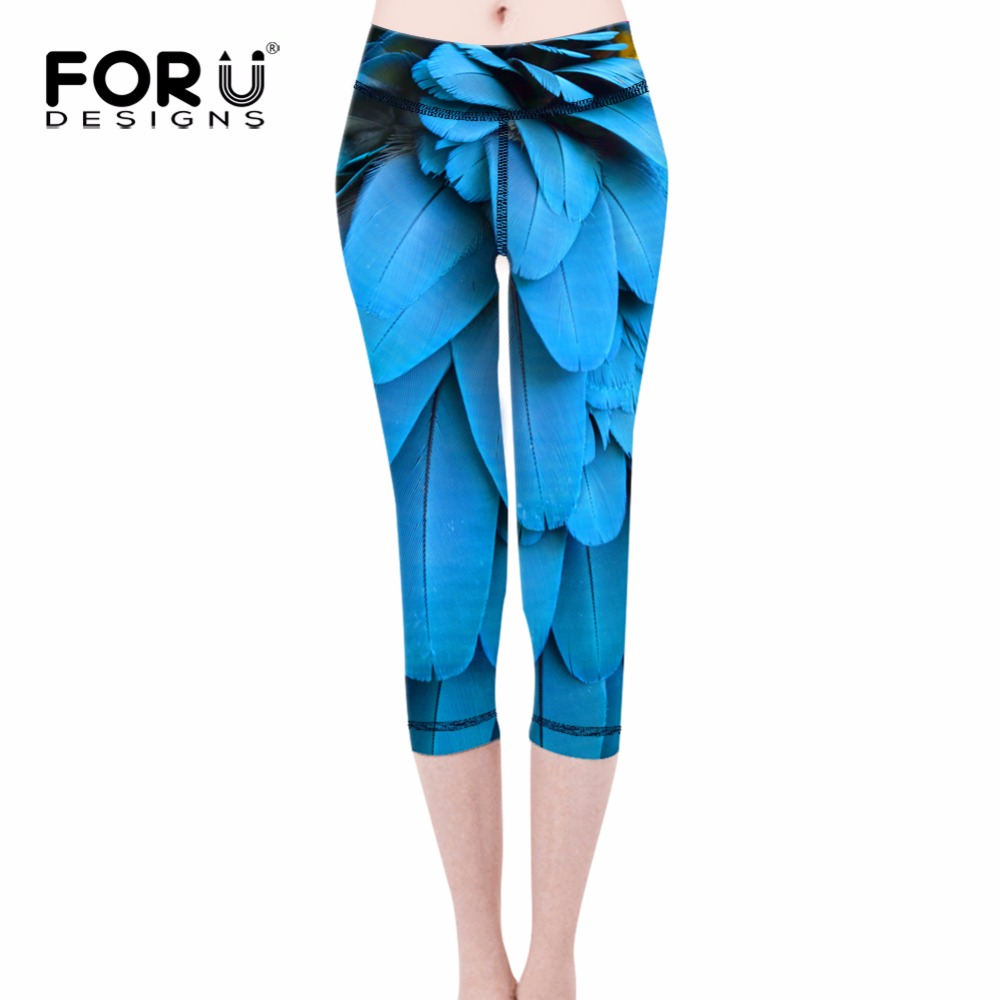 2016 Women American Football Pattern 3d Leggings Stretch: 2017 Fashion Feather Ladies Slim Leggings High Quality