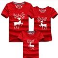 Milu Veados Combinando Roupas Da Família Mãe Pai Do Bebê de Manga Curta De Natal Olhar Família Família Roupas Combinando T-shirt da Cor