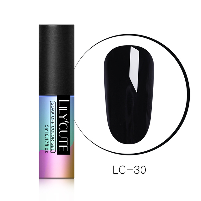 LILYCUTE 5ML Pink Nude Grey Series Soak Off UV Gel