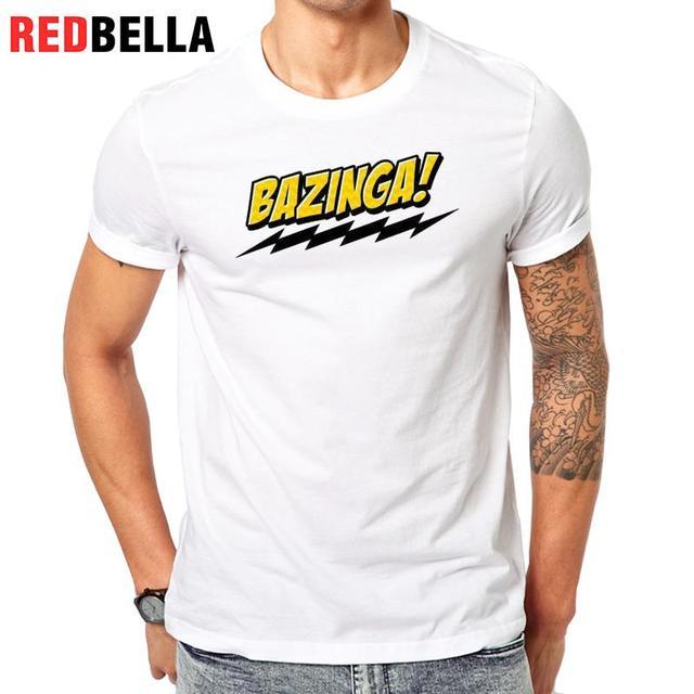 c47968bf REDBELLA T-shirt Men Popular America TV Bazinga Slogan Bigbang Pop Culture  Unique Design T Shirt Clothing Fashion Printed Man