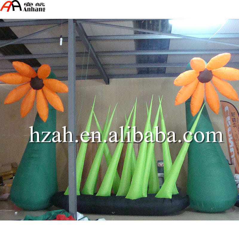 Giant Inflatable Flower with Glasses for Outdoor Park Decorations 3m diameter empty inflatable snow ball for advertisement christmas decorations giant inflatable snow globe
