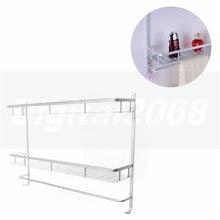 2016 de plata de alta calidad de aluminio ducha titular de almacenamiento en rack accesorios de baño con ganchos 1305 60*44*12 cm free gratis