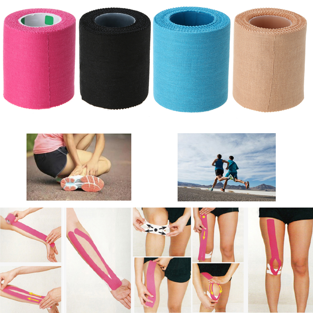1 roll Sport Tape Adhesive Cotton Blend Sport Tape Roll Elastic Bandage Waterproof Breathable Reduce Swelling Muscle Care Strap