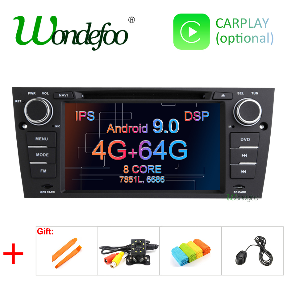 DSP IPS screen Android 9 0 4G RAM 64G ROM CAR GPS For BMW E90 E91