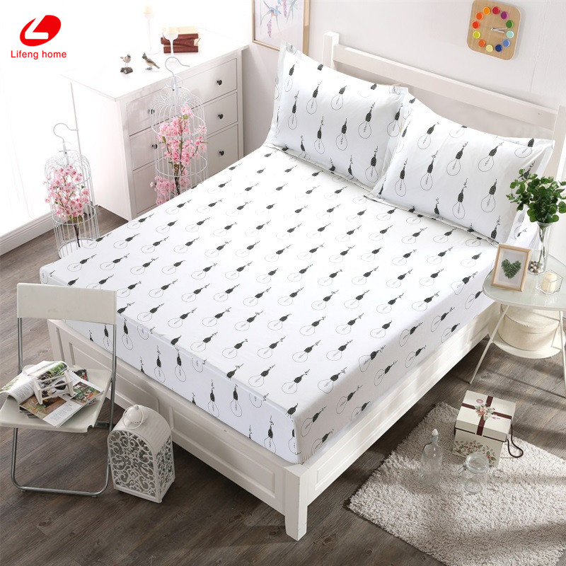 Home textile bed sheet sheet flower mattress cover printing bed sheet elastic rubber bedclothes 180*200cm summer bedspread band 41