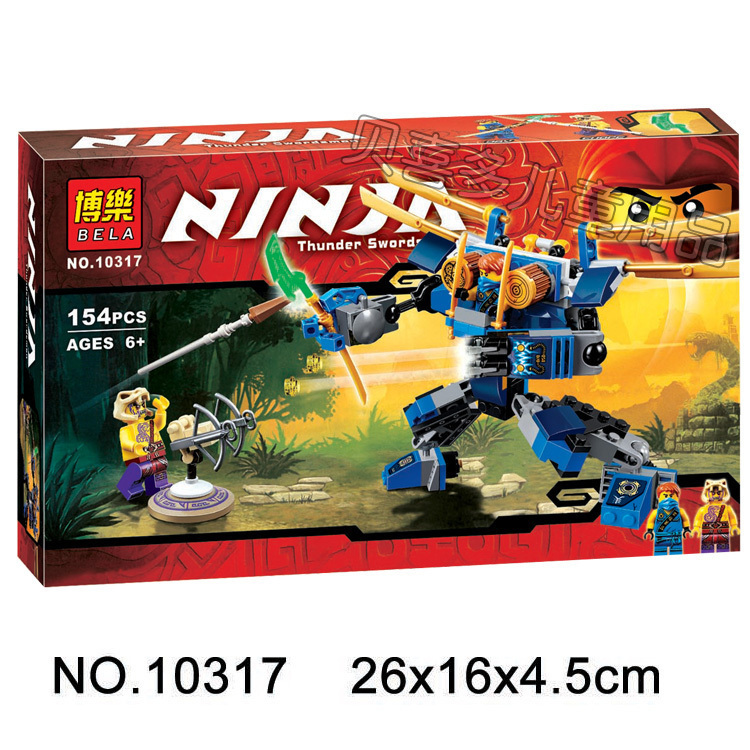 2016 new Bela 10317 Electromech Ninja Jouet de construction Minifigure 15Building Block Toys Compatible With Lego