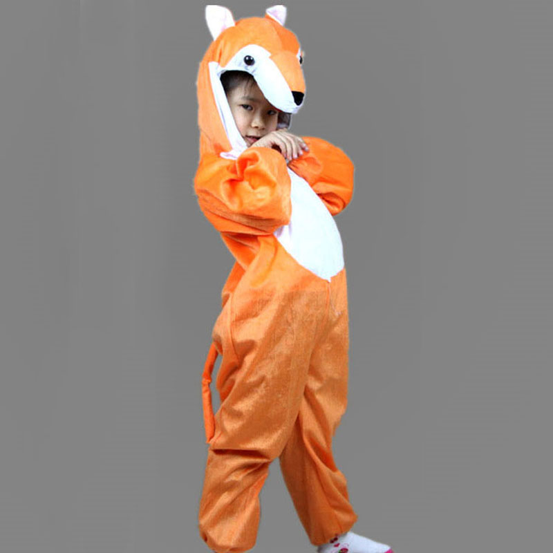 Umorden Copii Copii Fata Boy Cartoon Animal Fox Costum Cosplay Costum Costum Ziua Copilului Costume de Halloween Jumpsuit