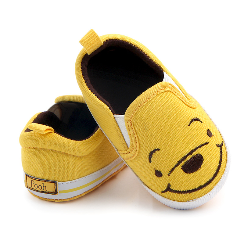 Baby Boy Shoes Casual Canvas First Walkers Cute Cartoon Moccasins Soft Sole Infant Shoes Newborn Footwear Yellow Toddler Shoes